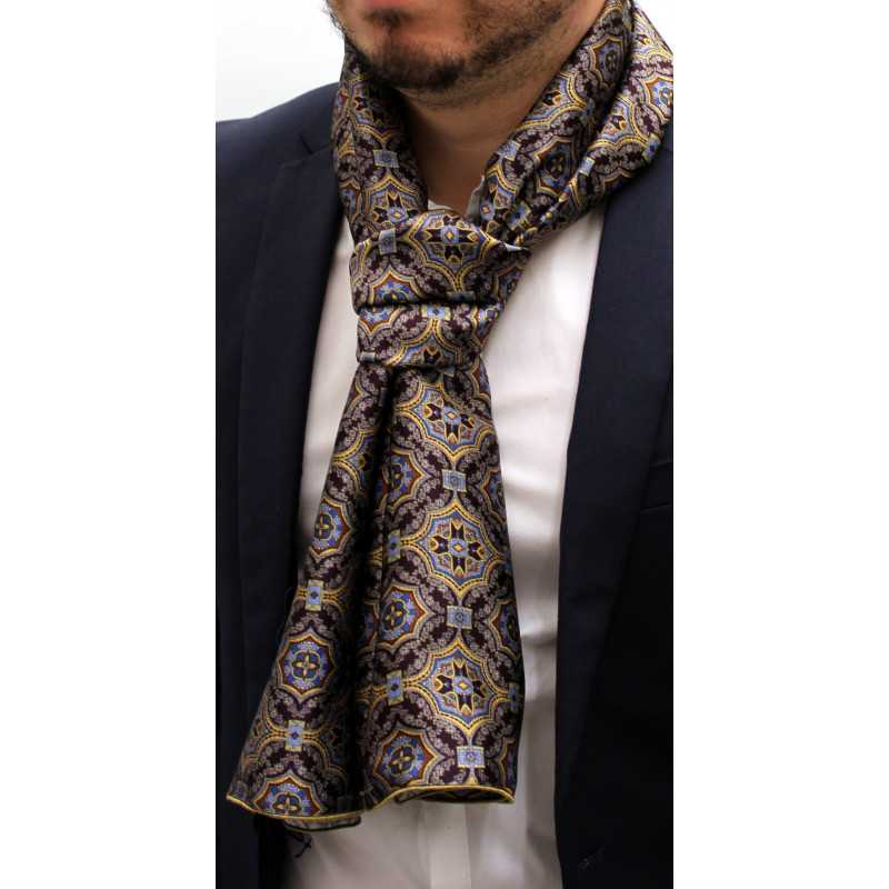 841637ecdab foulard écharpe en soie homme 927 fabriqué en France Made in France