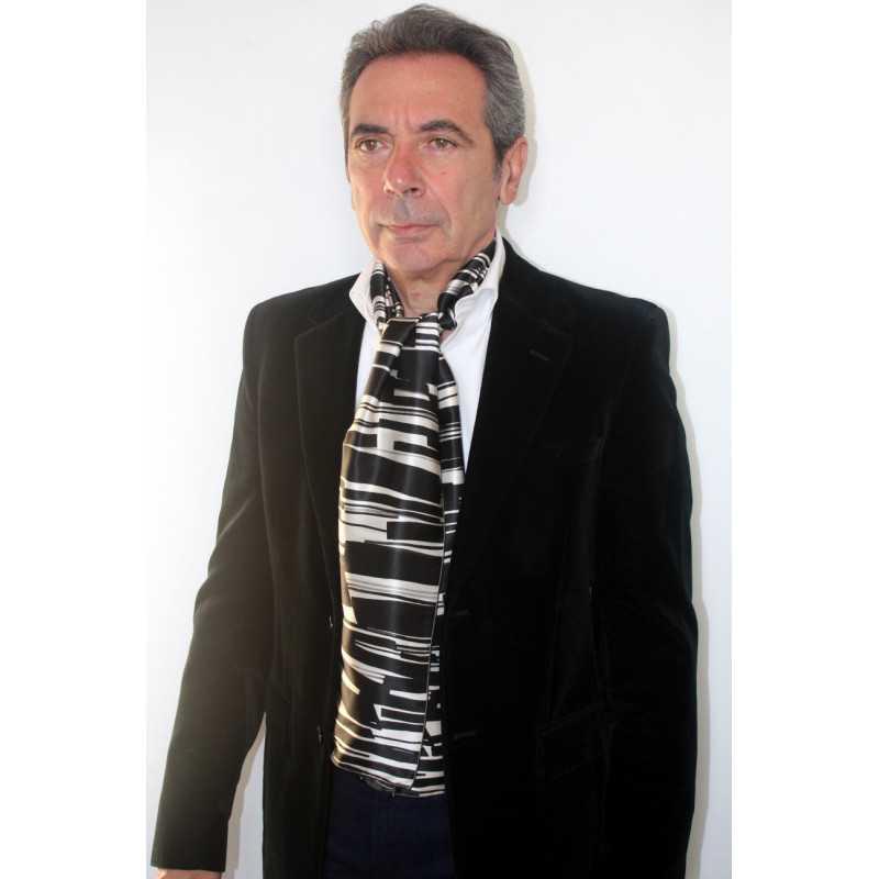 Foulard écharpe en soie homme CBF EH2024