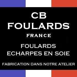 Foulard écharpe en soie haut de gamme et luxe made in france