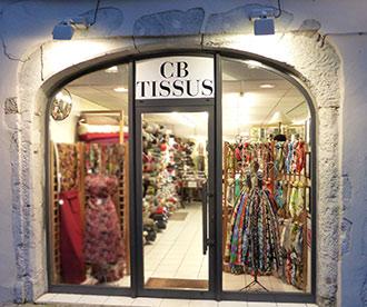 le magasin CB Tissus de Grenoble (France)