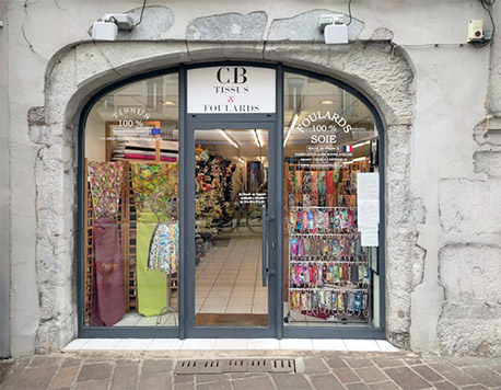 magasin CB Tissus & Foulards de Grenoble